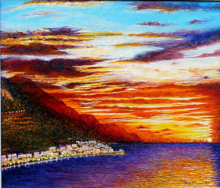 Almost Amalfi Sunset By Roger Turner
