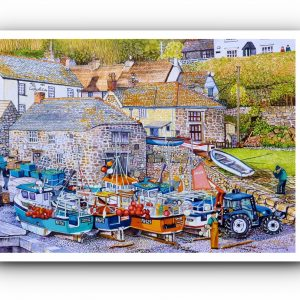 Signed Open Edition Giclée In-House Print of Cadgwith Cove, Cornwall