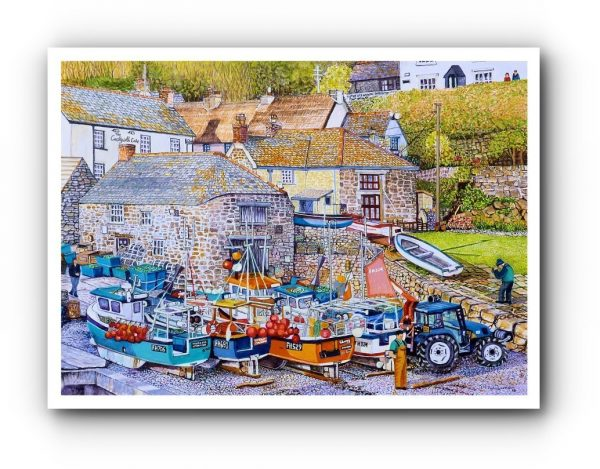 In-House Open Edition Print Pf Cadgwith Cove , Cornwall