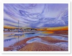 Signed Open Edition Giclée Prints of Torridge River Sunset at Instow