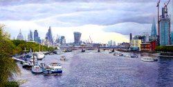 London Panorama. The Thames Towards Blackfriars Bridge