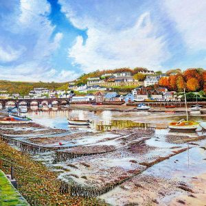 Looe River at Autumn Low Tide