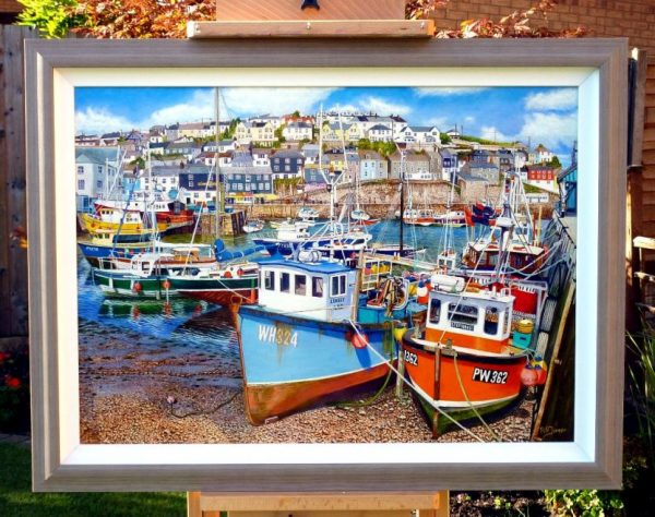 Mevagissey Oil Painting In Its Frame