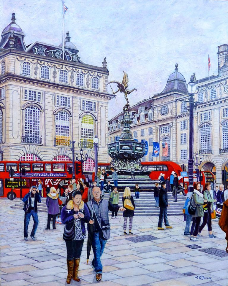 Piccadilly Circus, Eros and the NFL. By Roger Turner