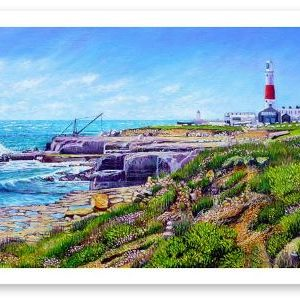 Limited Edition Giclée Print of Portland Bill Lighthouse In April