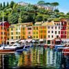 Portofino On Reflection Oil Painting by Roger Turner
