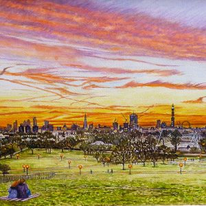 Primrose Hill, London Skyline Sunrise