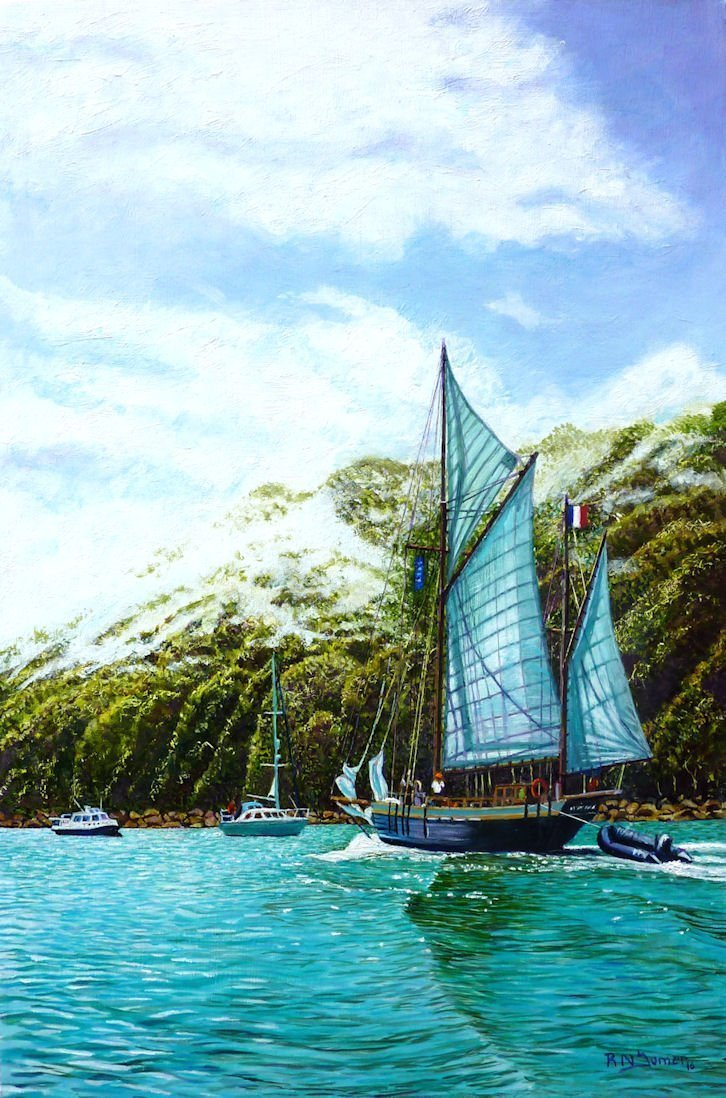 Sailing From Salcombe  Harbour by Roger Turner