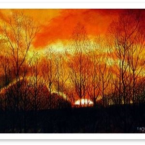 Limited Edition Giclée Print of Sunset Embankment