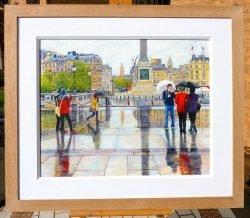 Trafalgar Square in the Rain