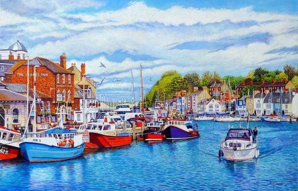 Weymouth Old Harbour In May Original Oil Painting
