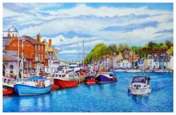 Signed Open Edition GicléeIn-House Print of Weymouth Old Harbour In May