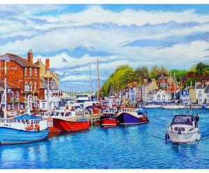 Signed Open Edition Giclée In-House Print of Weymouth Old Harbour In May