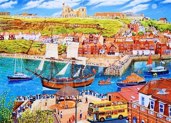 Bark Endeavour Departing Whitby Oil Painting