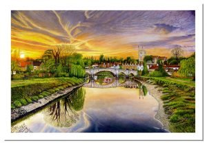 Signed Open Edition Giclée Prints of Aylesford Sunset