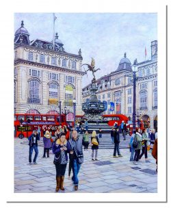 Signed Open Edition Giclée Prints of Piccadilly Circus, Eros and the NFL