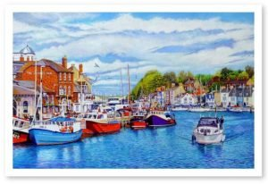 igned Open Edition Giclée Prints of Weymouth Old Harbour in May