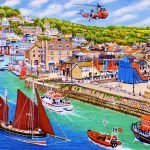 Looe Cornwall Busy Cornish Lugger Regatta Days